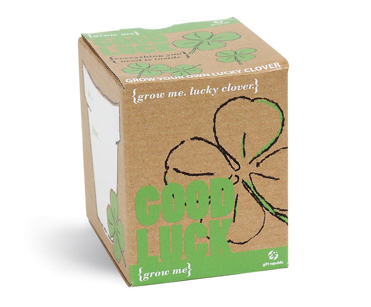 Grow Me ? Viel Glück, Glücksklee Geschenkbox Grow Me ? Viel Glück Glücksklee Geschenkbox Gift Republic GR130005