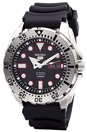 92915ed07 Image Unavailable. Image not available for. Color: Seiko 5 Sports SRP601J1  Men's Japan Automatic Black Resin Band 100M Dive Watch
