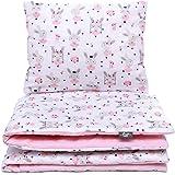 4tlg Set Babybettwäsche minky Baumwolle Kinderbettwäsche Bettwäsche Decke Kissen