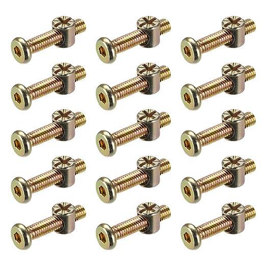 ZCHXD M6 x 30mm Furniture Bolts Nut Set Hex Socket Screw ...