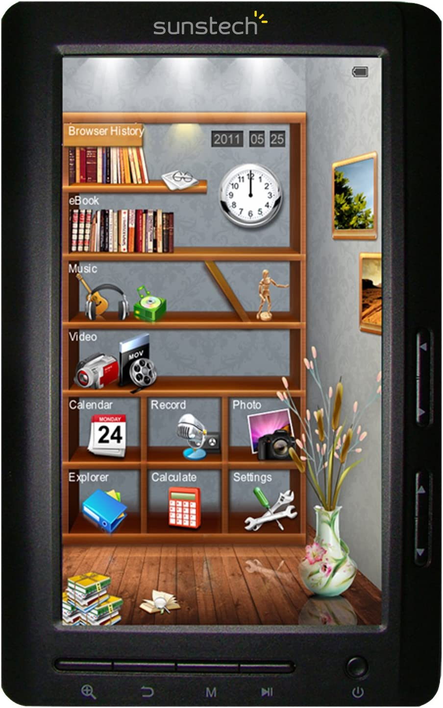 Sunstech EB7064GBBK - Lector de eBooks (pantalla de 7
