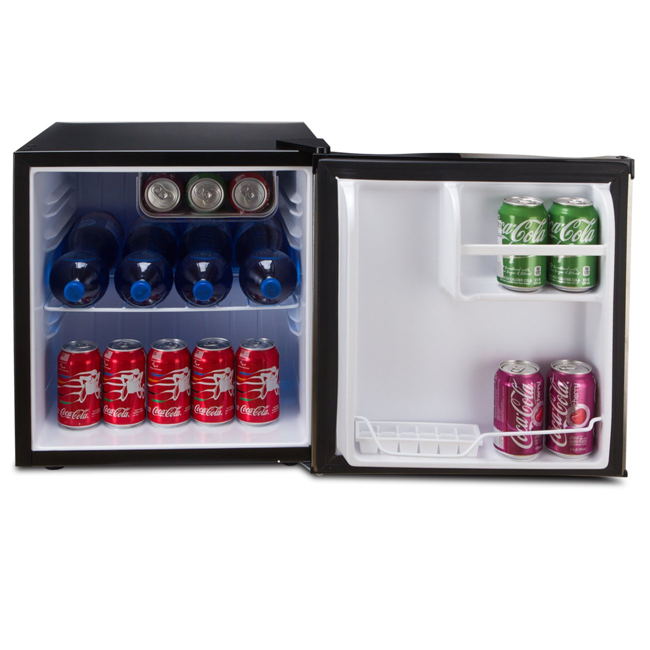 Della Compact Mini Refrigerator & Freezer, 1.6 Cubic Feet, Stainless Steel by DELLA (Image #3)