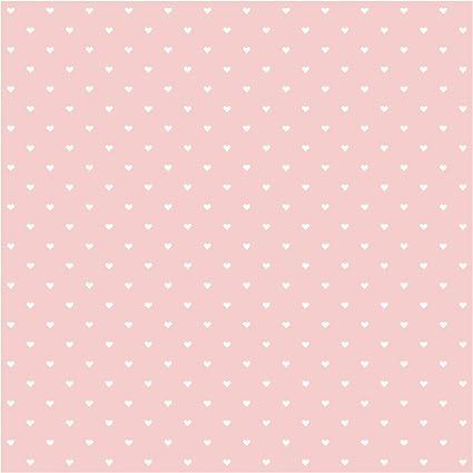 Conosciuto Carta da parati adesiva - bianchi Cuori Su Rosa- Formato quadrato QF72