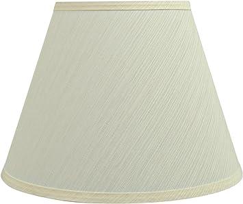 Aspen Creative 32685 Transitional Hardback Empire Shaped Spider Construction Lamp Shade Off White