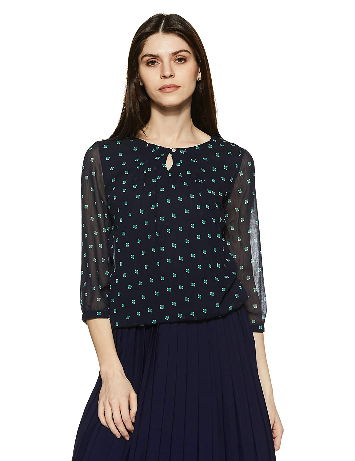 14f598710f6bd Harpa Women s Body Blouse Top  Amazon.in  Clothing   Accessories