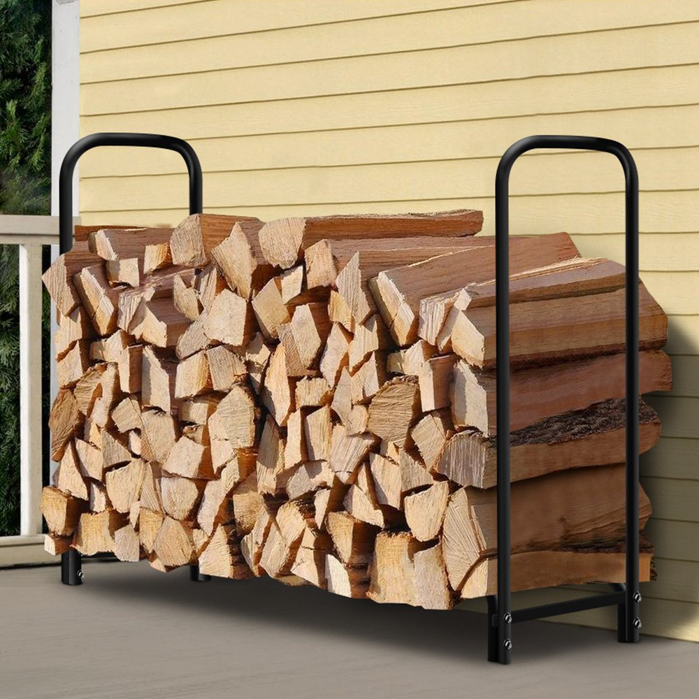 outdoor firewood racks amazon com