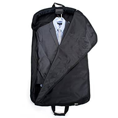 Delsey Luggage Helium Garment Bag, Suit or Dress Bag, Includes Carry Handle, Black