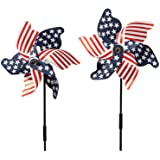 Miles Kimball Patriotic Pinwheel - Set Of 2