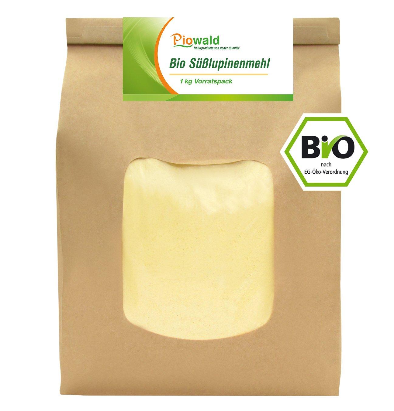 BIO Süsslupinenmehl 1 kg Vorratspack Amazon Lebensmittel