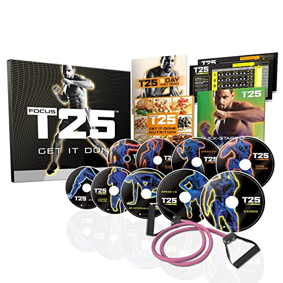 Beachbody Focus T25 Shaun T S Dvd Workout Program Comprehensive Fitness Guide Nutrition Plan Included