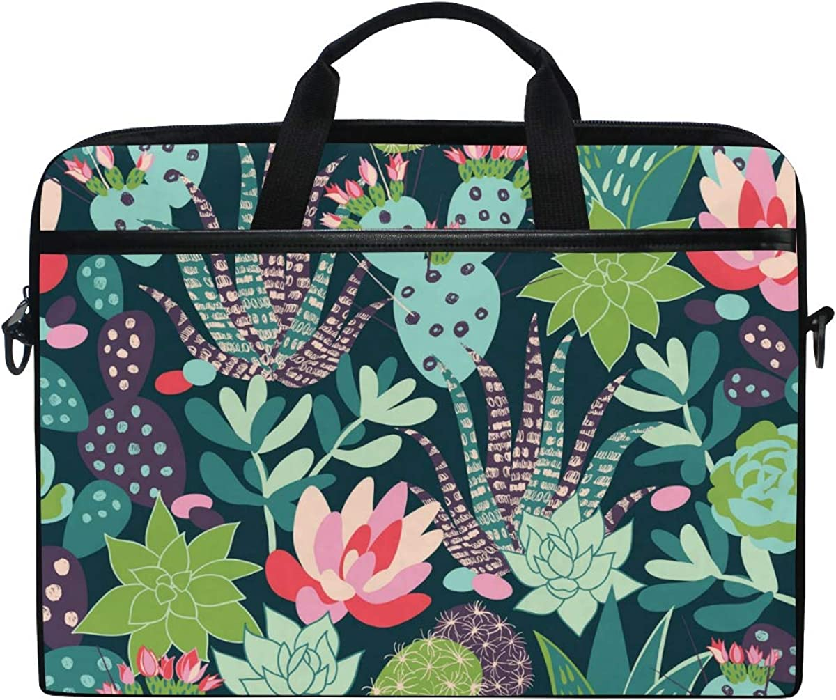 Computer Carrying Case Fits 15-15.4 Inch Notebook FICOO 15 Inch Laptop Sleeve Case Bag Llama Cactus Messenger Bag for Women Men