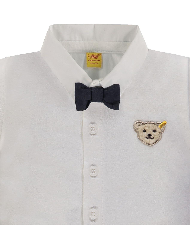 Steiff Baby Jungen Kragen Hemd mit Fliege Special Day 6642823 wei/ß