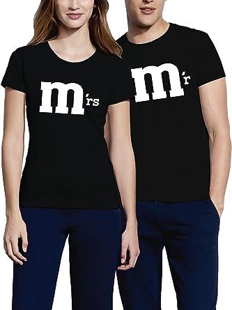 VIVAMAKE – Mr. & Mrs – Pareja de Camisetas Mujer y Hombre – 2 ...