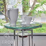 "Troysystems 28"" Round Glass Table Top, 1/2"