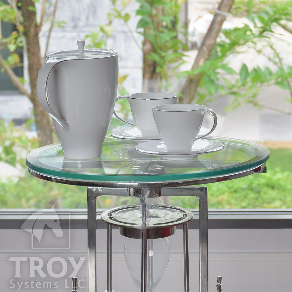 20'' Inch Round Glass Table Top, 1/2 Thick, Beveled Edge, Tempered Glass by TroySys (Image #3)
