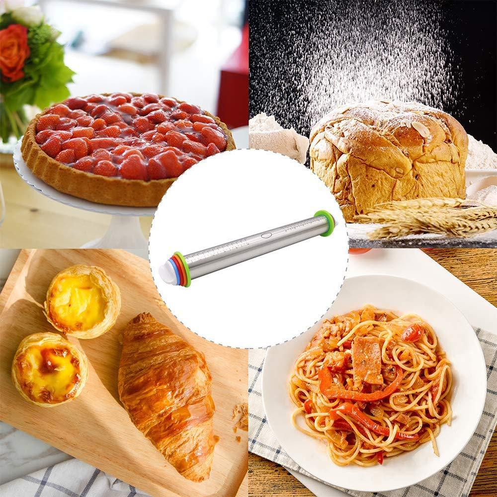 KitchenBasix Perno de balanceo cl/ásico Madera Ideal para Hornear Rodillo de Masa Profesional de Necesidades Utilizado panaderos y Cocineros pastas Galleta Pasta pasteler/ía panader/ía Pizza Fondant
