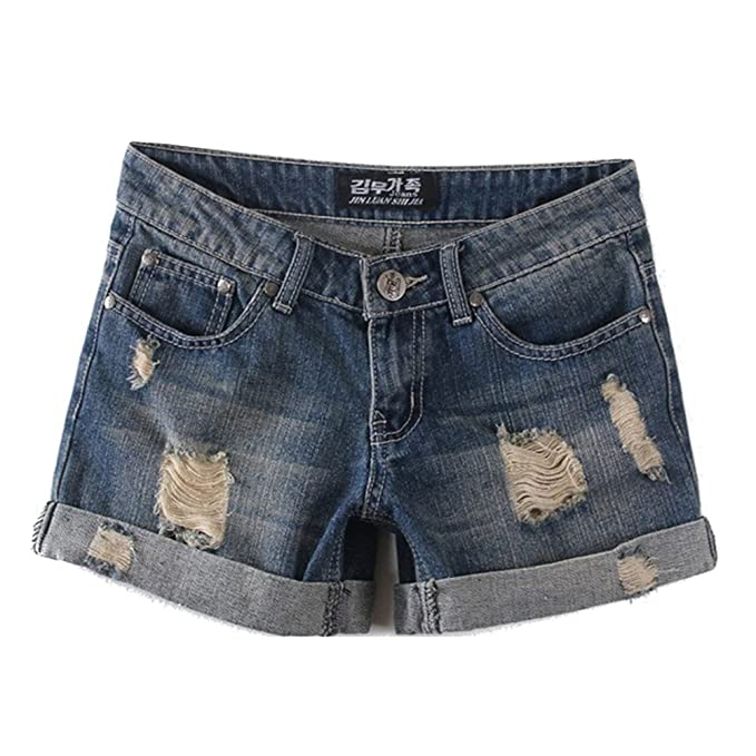 60f013bfd4c640 Elegant Jeansshorts für Damen Zerrissene Kurze Denim Hosen Casual Kurz  Jeans Hotpants Shorts mit Taschen für Sommer und Frühling: Amazon.de:  Bekleidung