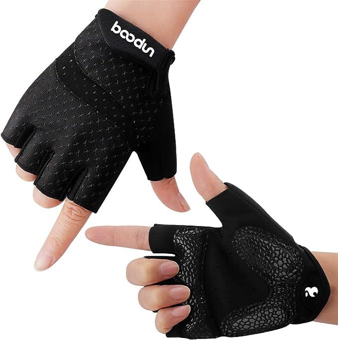 Boildeg Fahrradhandschuhe Fingerlos Fitness Handschuhe Atmungsaktiv Rutschfestes Stoßdämpfende Radsporthandschuhe Für Mtb Fitness Damen Und Herren Bekleidung