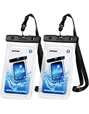 """Mpow 097 Universal Waterproof Case, IPX8 Waterproof Phone Pouch Dry Bag Compatible for iPhone Xs Max/XR/X/8/8P/7/7P Galaxy up to 6.5"""", Protective Pouch for Pools Beach Kayaking Travel or Bath (2-Pack)"""