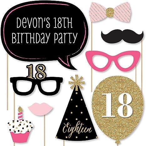Hello 18 birthday banner Glitter Banner photo prop | glitter party decorations happy birthday