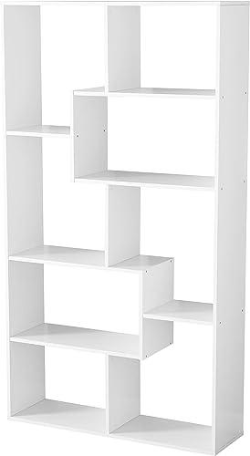 Mainstay Home 8-Shelf Wood Bookcase White