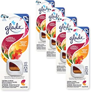 Glade - 805912 Automotive Vent Oil Air Freshener: 2-in-1 Hawaiian Breeze & Vanilla Passion Fruit; 4mL, 4 Count
