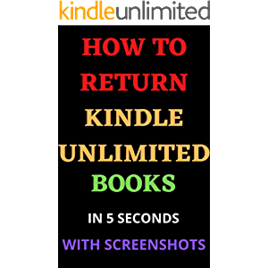 How to Return Kindle Unlimited Books: In 5 seconds with screenshots