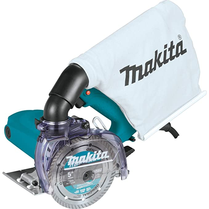 "Best Concrete Saws: Makita 4100KB 5"" Dry Masonry Saw, with Dust Extraction"