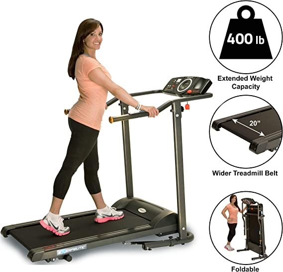 Exerpeutic TF1000 Ultra High Capacity Walk to Fitness Electric Treadmill