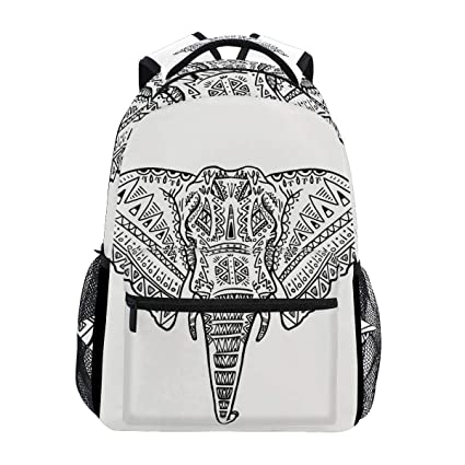 Image Unavailable. Image not available for. Color  Backpack Women Men Teen  Girl Boy School Bag White Elephant Purse Book Daypack Travel College cd6fd7ef5d235