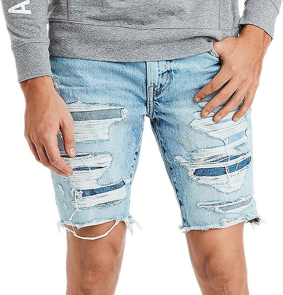Amazon Com American Eagle 6835508 Pantalones Cortos De Mezclilla Para Hombre Clothing
