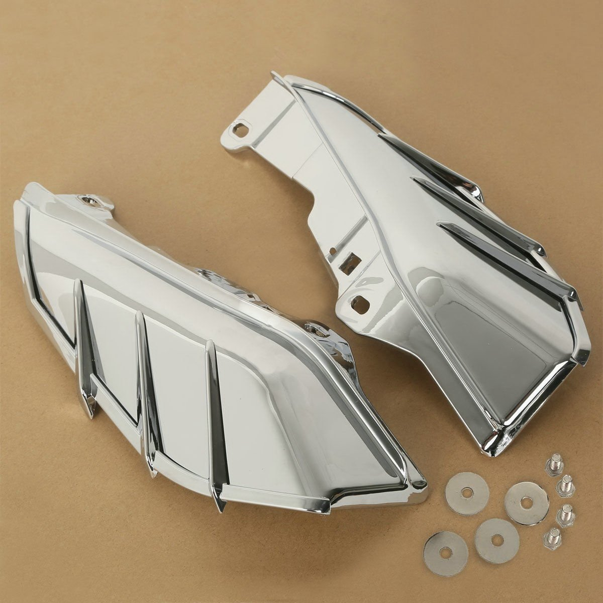 Chrome Mid-Frame Air Deflector For Harley Touring Electra Street Glide FLTR FLHX