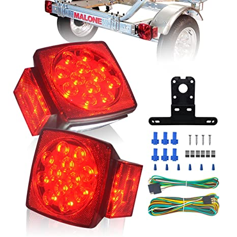 Amazon.com: KASLIGHT Led Submersible Boat Trailer Lights And Wiring ...