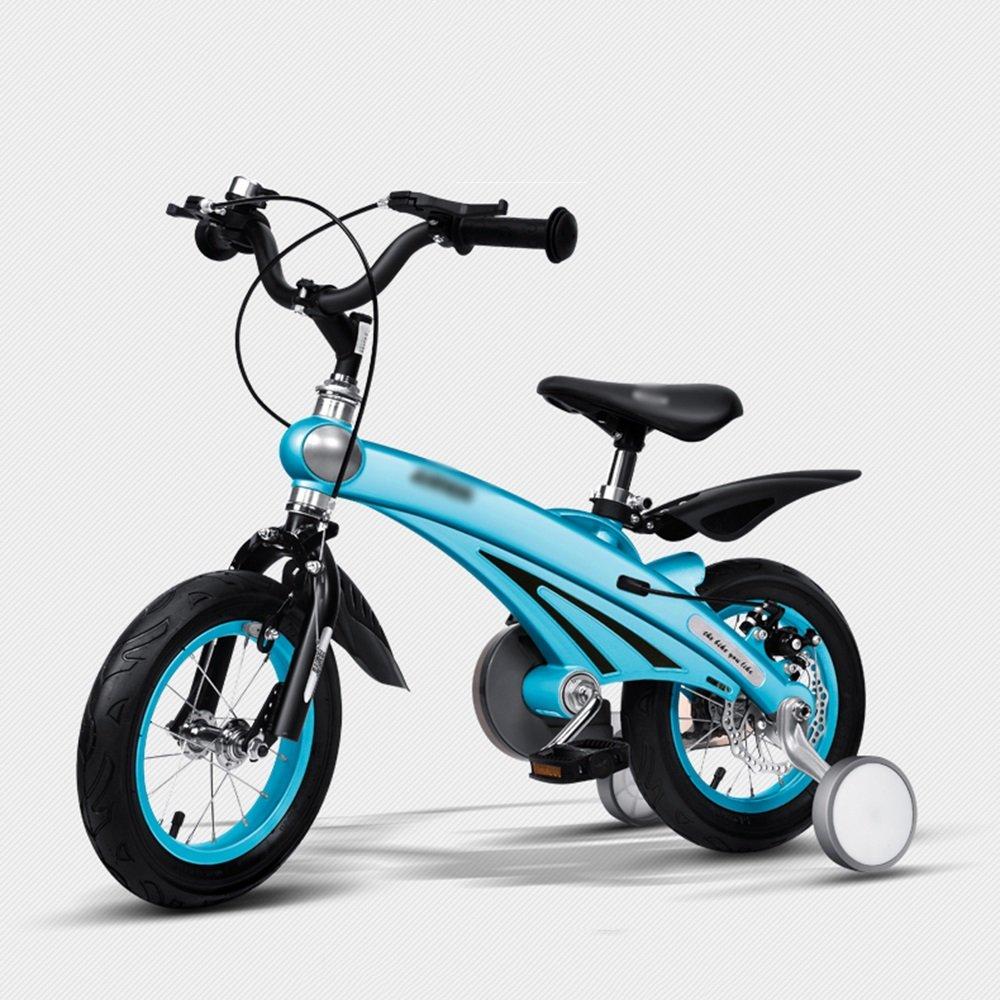 FEIFEI 子供の自転車のサイズオプション12インチ14インチ16インチブルーピンクイエローシャンパンゴールド (色 : 青, サイズ さいず : 16 inch) B07CXK67ZW 16 inch|青 青 16 inch