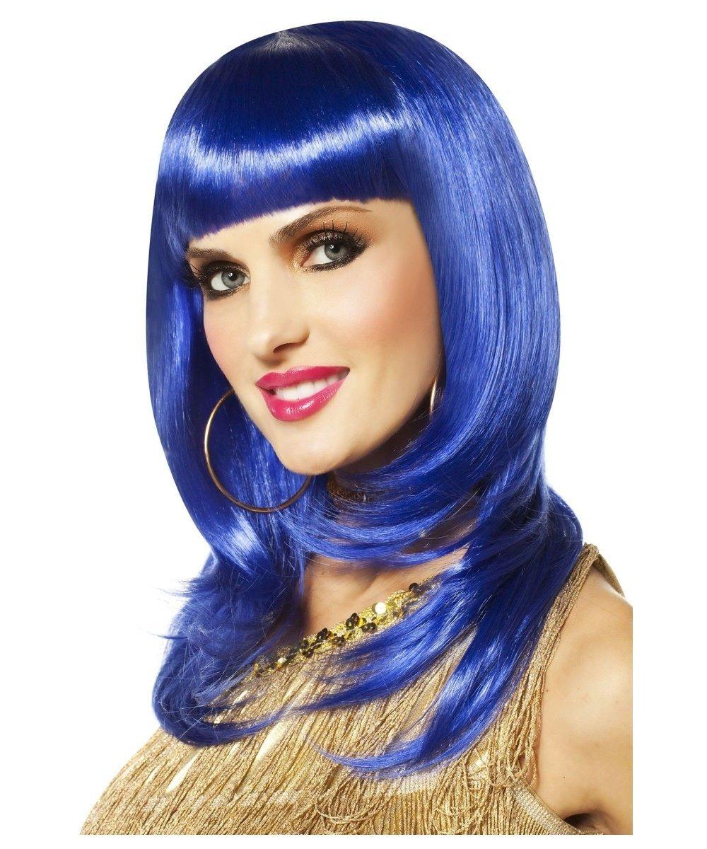 Goddessey So Fine Bold Wig, Adult Standard, Blue