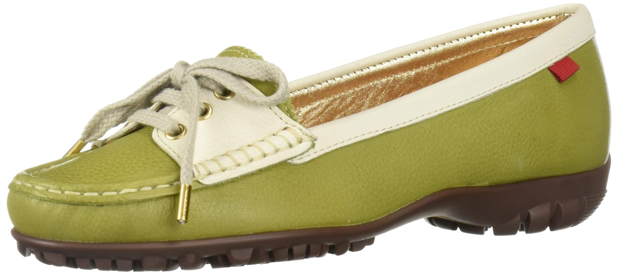 MARC JOSEPH NEW YORK Womens Leather Made in Brazil Liberty Golf Shoe, Apple Grainy, 8.5 M US by MARC JOSEPH NEW YORK