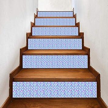 Pegatinas De Escalera 3D Pegatinas De Escalera De Escamas De Pescado Hogar Diy Pegatinas De Pared Diseño De Escalera Pegatinas De Pared Decorativas: Amazon.es: Bricolaje y herramientas