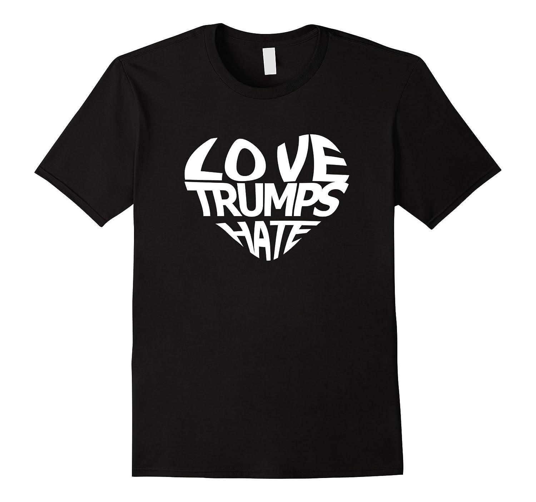 Love Trumps Hate Million Woman March T-Shirt-FL