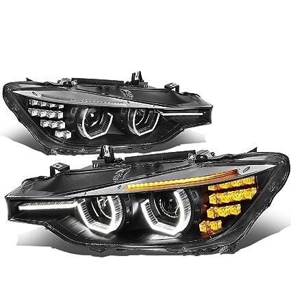 Amazon Com For Bmw F30 3 Series Sedan Wagon Black Housing Amber