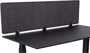 """ReFocus Raw Clamp-On Acoustic Desk Divider – Reduce Noise and Visual Distractions with This Lightweight Desk Mounted Privacy Panel (Anthracite Gray, 60"""" X 16"""")"""