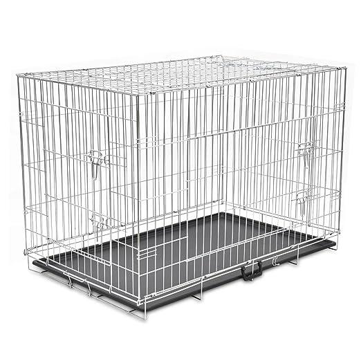Vislone Jaula Plegable de Metal para Mascota Perros Transportin ...