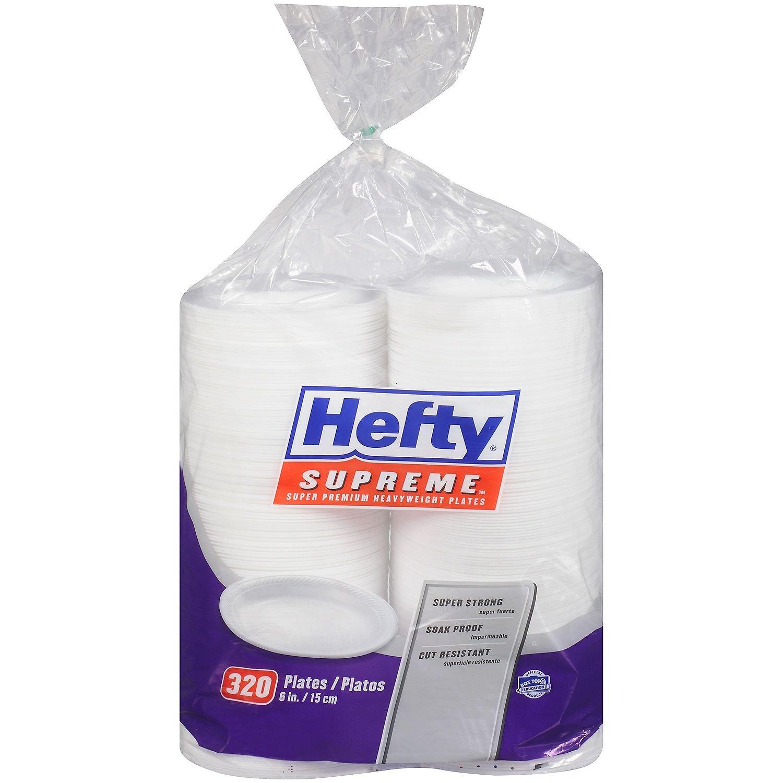 Hefty Supreme Foam Plates, 6'' (320 ct.)