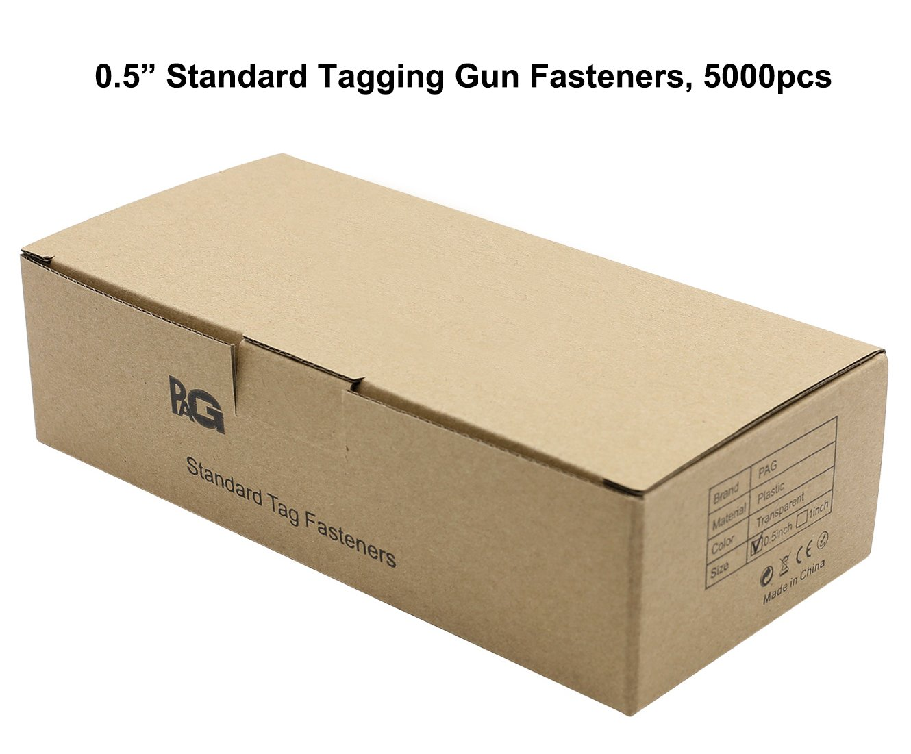 PAG 0.5 Standard Tagging Gun Fasteners Tag Barbs Attachments for All Standard Price Tag Gun 5000pcs 50pcs Clip Clear