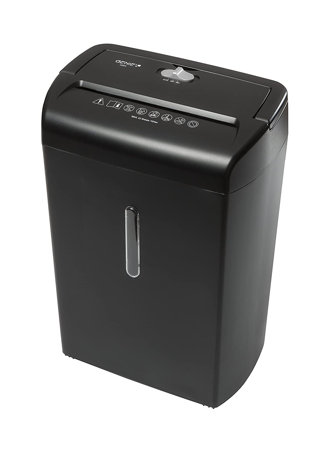Genie 1200 XCD ad alta sicurezza distruggi documenti (fino a 12 fogli, Frammenti – shredder, incluso cestino) nero Frammenti - shredder 1200 X
