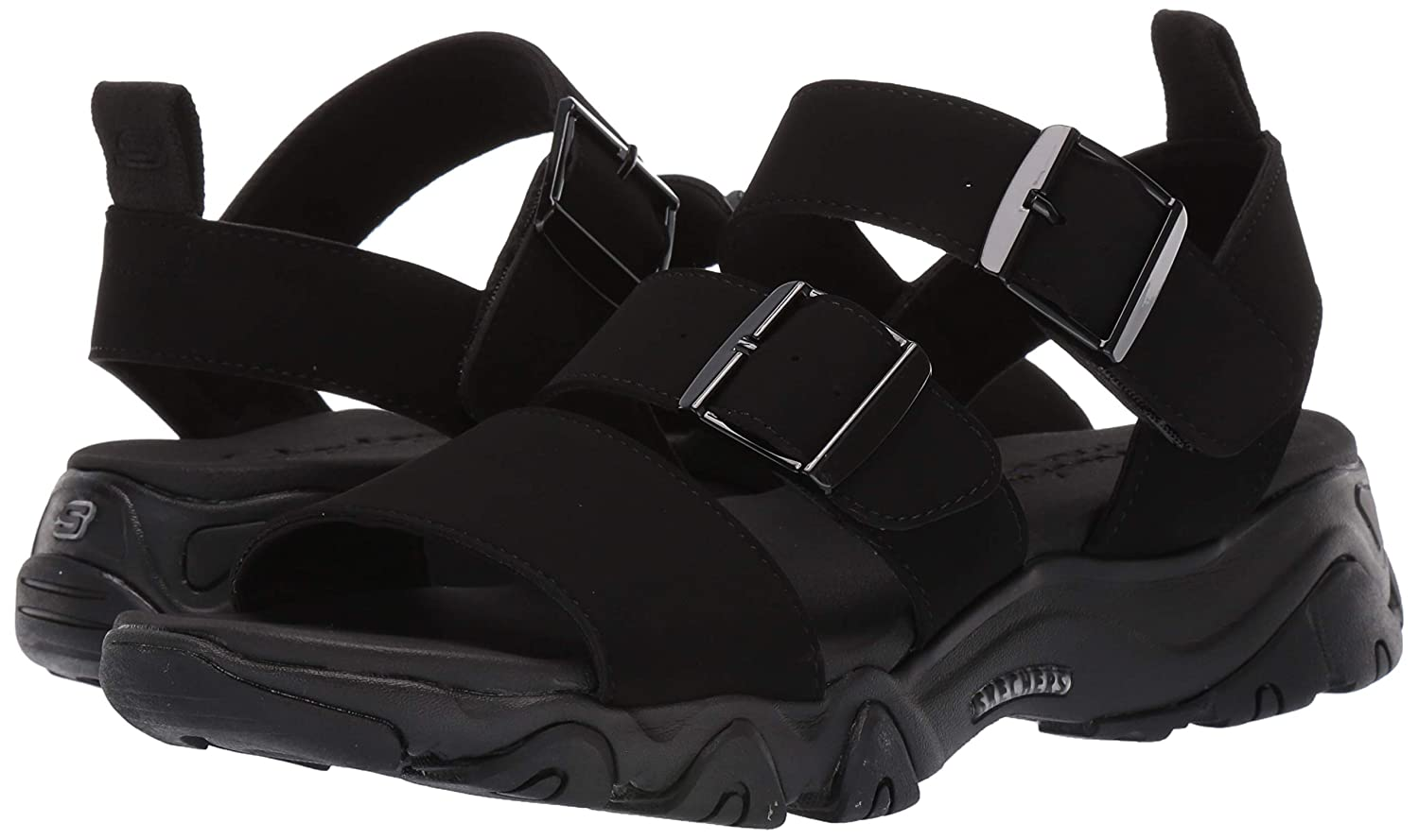 2b3ef3584 Amazon.com  Skechers Women s D Lites 2.0-Cool Cosmos-Triple Band Sling Back  Sport Sandal  Shoes