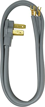 Coleman Cable 09014 50-Amp 3-Wire Range Power Cord 4-Foot 90148809