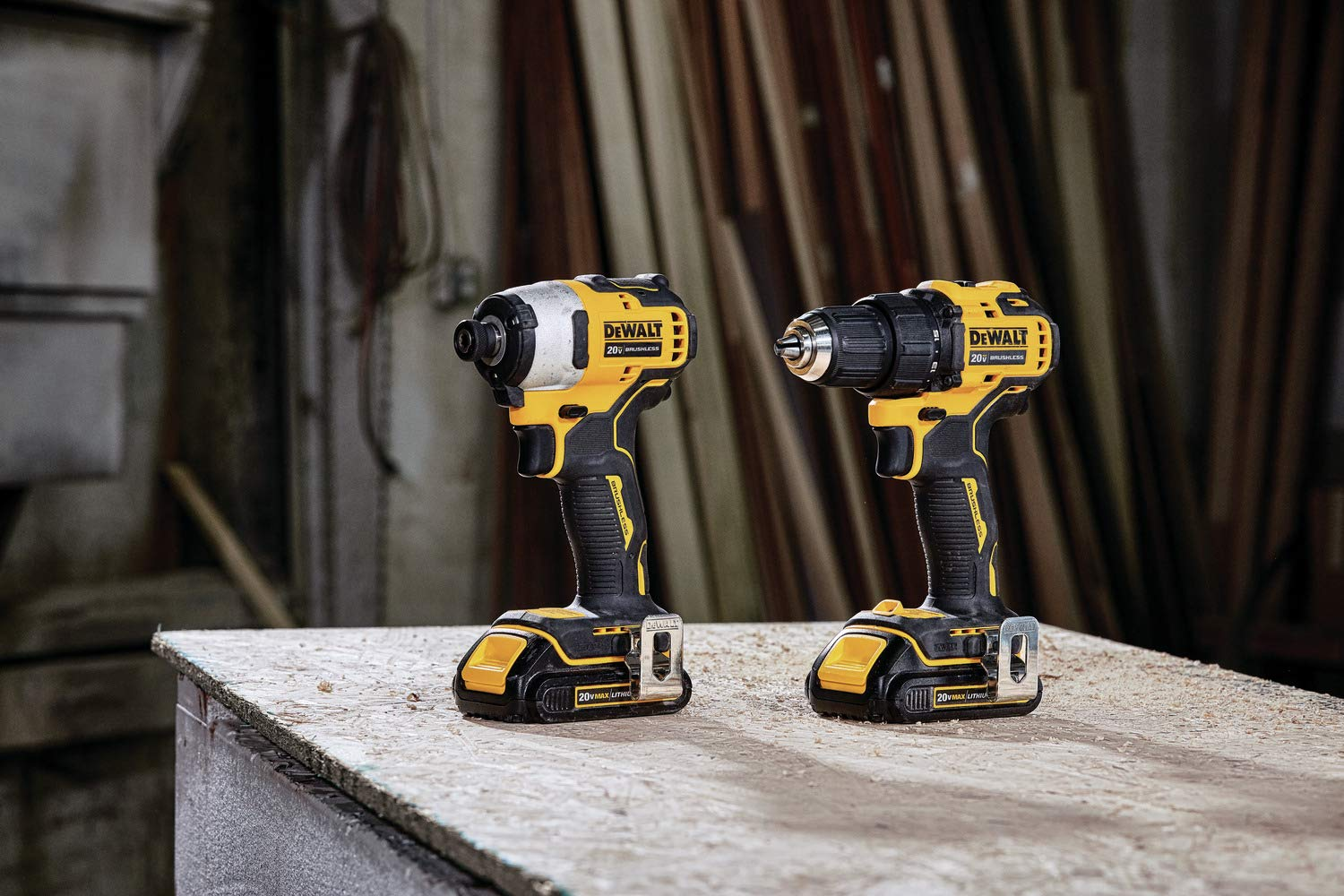 DEWALT DCK278C2 ATOMIC 20-Volt MAX Lithium-Ion Brushless Cordless Compact Drill Impact Combo Kit