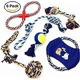 Giocattoli della corda del cane ANICOR colore corda durevole masticare giocattoli cotone corda pulire i denti giocattoli per piccoli, medi e grandi cani 5 pacchetti set regalo