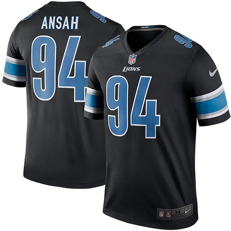 94 Ziggy Ansah Trikot Detroit Lions Jersey American Football Shirt Mens Color Rush Legend