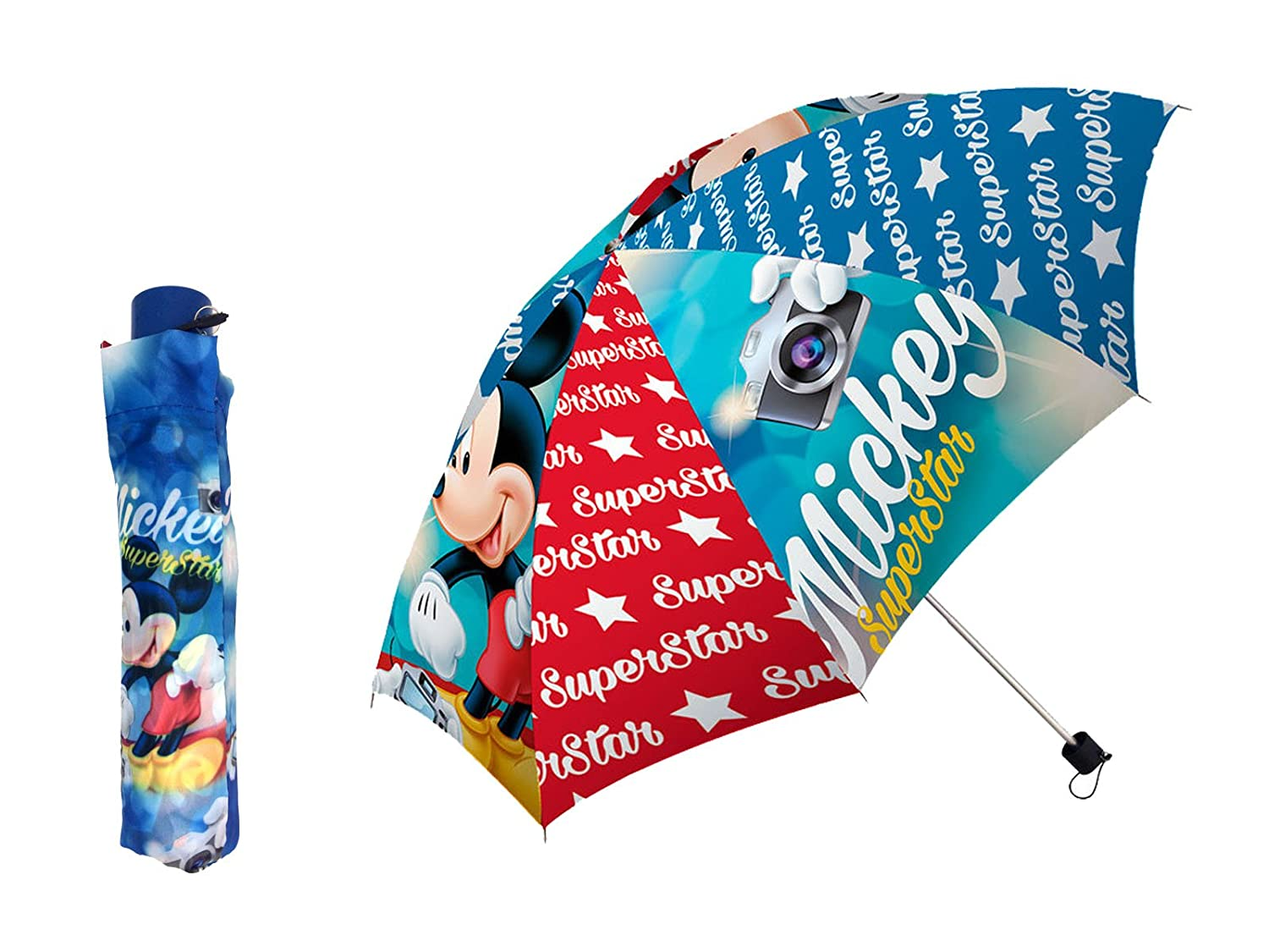 Disney Mickey 17505 - Paraguas plegable 55cm